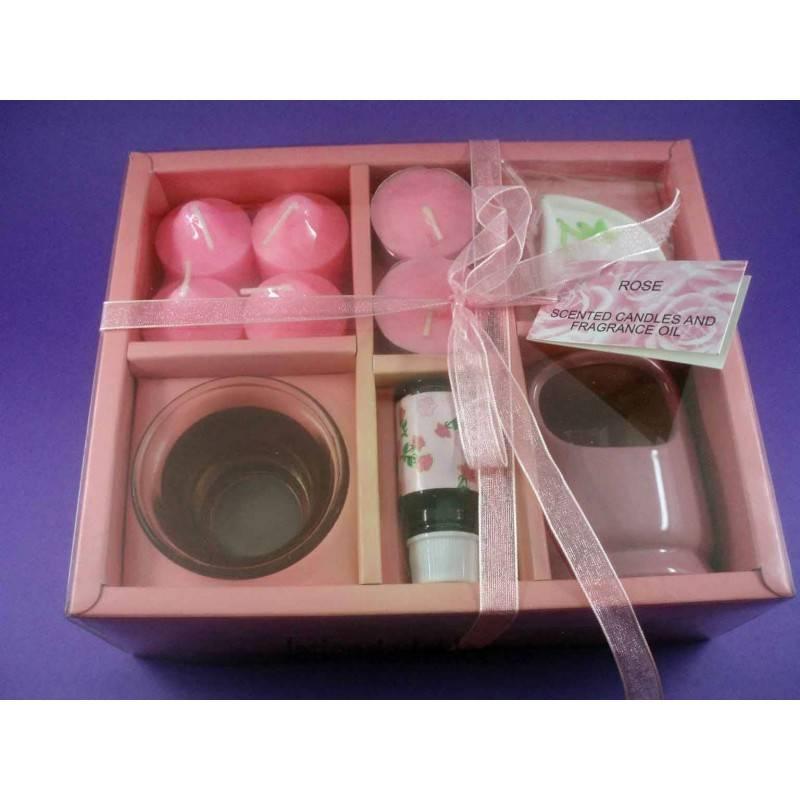 Set velas y aromas a rosas a 12 99 en la tienda de kloe - Aromas para velas ...