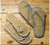 Flip flop florecitas y bambú,talla M, 2 surtido min.2