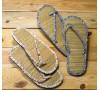 Flip flop florecitas y bambú, talla L, 2 surtido min.2