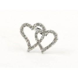 Broche corazones strass 3,4x2,5cm. min.12