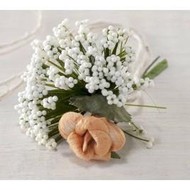 Bouquet floral con gypsophila para I150, min.12