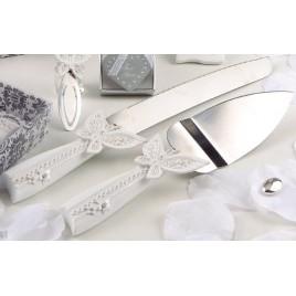 Juego de cuchillos tarta mariposa, set de 2