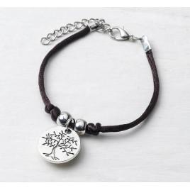 Pulsera con medalla árbol/life is a gift,min.4