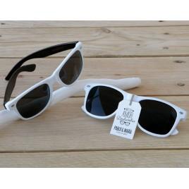 Gafas de sol blancas patilla negra PROMOCIÓN