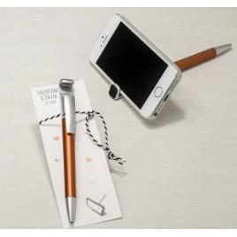 Boli ocre para móvil con borra huellas en p.de libro