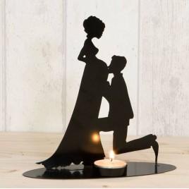 Figura/portavela pastel, novia embarazada,vela incl.19cm.