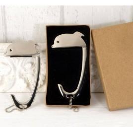 Cuelga bolsos Delfín en caja regalo 5x9cm.
