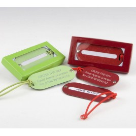 Identificador maletas verde/rojo con caja min.2 P.GOLOSO