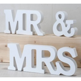 Set madera MR & MRS 3piezas, blanco