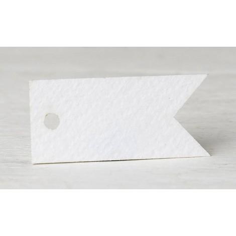 Tarjeta banderola personaliz. 3,7x1,7cm. (preciox77u) min.77