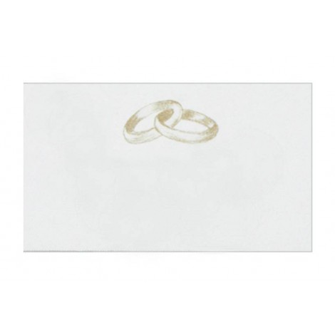 Tarj. precortadas anillos beige 30xhj.min.5