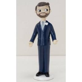 Figura pastel novio Pop&Fun con barba, 21cm.