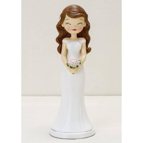 Figura pastel novia Pop&Fun ojitos cerrados, 21cm.
