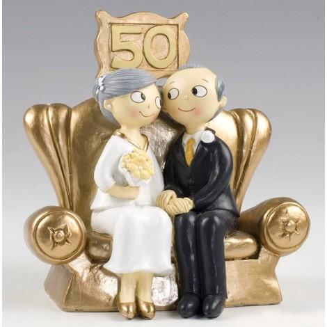 Figura pastel Pop&Fun Bodas de Oro 16x16,5cm