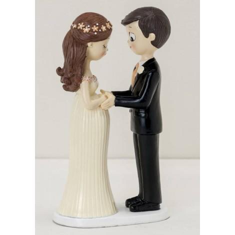 Figura pastel novios Pop&Fun novia embarazada, 21cm