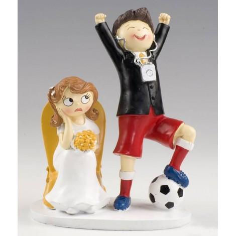 Figura pastel novios futbolista Pop & Fun 14,5x19,5 cm