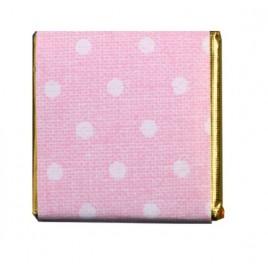 Napolitana choc. leche topos rosa, caja de 150un.aprox.*