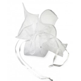 Pañuelo-bolsa cristal blanca 23x23cm., min.24
