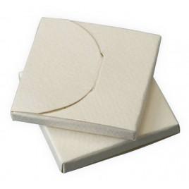 Cajita marfil 4,5x4,5x0,5cm, min.25