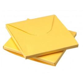 Caja amarilla 8x8x0,5cm min.25