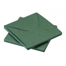 Caja verde 8x8x0,5cm min.25