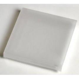 Estuche blanco glaseado 7x7x0,7cm. min.25