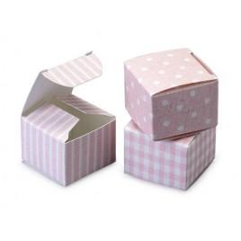 Estuche T/R/C rosa 3,5x3,5x2,5cm min.24