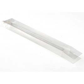 Estuche transparente 3,5x1,2x20,5cm. min.25