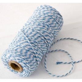Cordón 12hilosx100mts. trenzado algodón azul/blanco