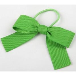 Lazos verde otomán+cordón elástico 15mm,24pcs.
