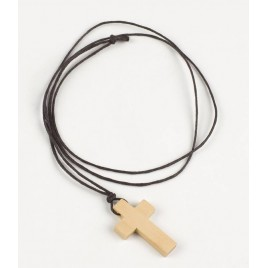 Colgante cruz madera