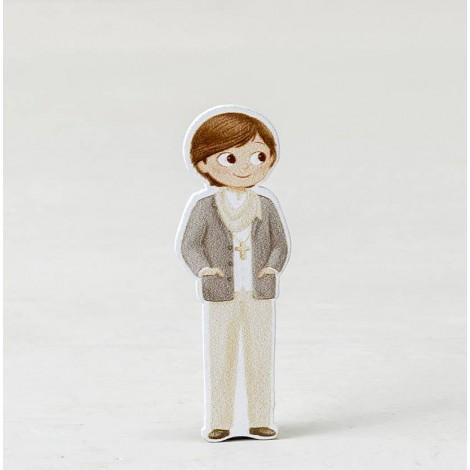 Figura 2D adhesiva niño Comunión foulard, 5,5cm. min.10