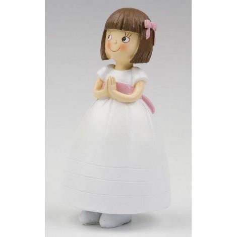 Figura pastel niña vestido princesa 16cm. min.2