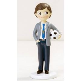 Figura niño Comunión con pelota 16,5cm.