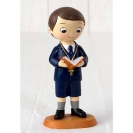 Figura pastel niño Comunión pantalones cortos 15cm.