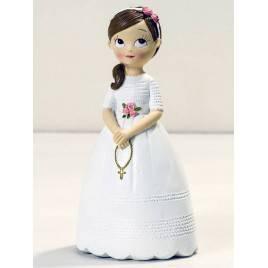 Figura niña Comunión con rosario 16,5cm.