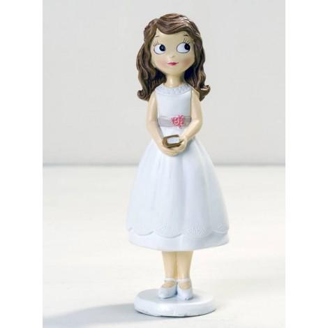 Figura niña Comunión con vestido corto 16,5cm.