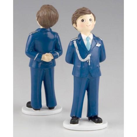 Figura para pastel Comunión Almirante azul 17cm, min.2