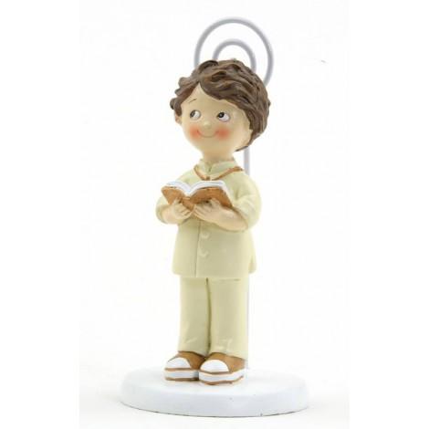 Portafoto niño traje beige Comunión 10,5cm., min.6