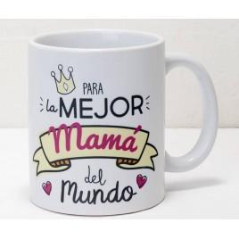 Taza cerámica Para la mejor mamá, en caja regalo