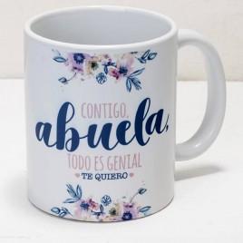 Taza cerámica Contigo Abuela en caja regalo