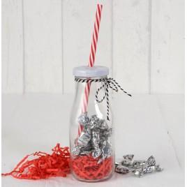 Botellita cristal caña roja/viruta roja,15minifruits. min8