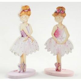 Portafotos bailarinas madera 2modelos 13cm., min.4
