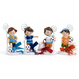 Portafotos futbolista 4mod. 3peladillas choco., min.4