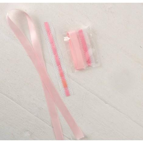 Set decoración rosa para Cirio H180