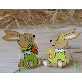Conejos madera 8cm con colgante, stdo.2, min.6