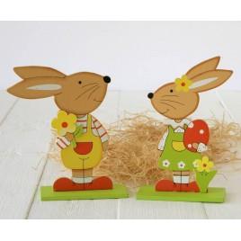 Figuras madera conejito & conejita stdo, min.2
