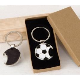Llavero/abridor pelota fútbol con caja regalo 3,5x7cm.