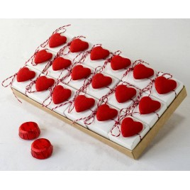 Expositor 18 cajita 2bombones S.Valentín corazón adhesivo*