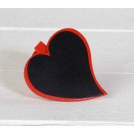 Pinza corazón de pizarra (5cm.) tiza incluida, min.6